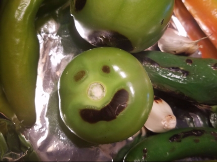 Happy tomatillo